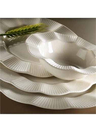 Kütahya Porselen Milena Yemek Takımı Seti 24 Prç.Krem Renkli